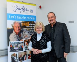 Rafa Benitez visits Sir Bobby Robson Cancer Centre